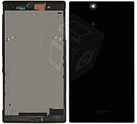 Корпус для Sony Xperia Z Ultra C6802 XL39h, черный, оригинал