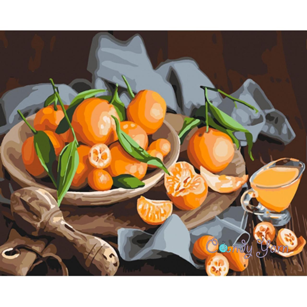 """Картины по номерам 40*50 """"Оранжевое наслаждение"""" №5545 ..."""