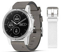 Спортивные часы Garmin Fenix 5S Plus Sapphire White Gray (010-01987-05)