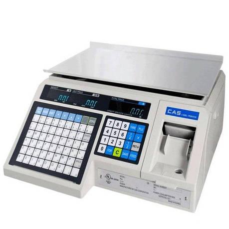Весы с печатью этикеток CAS LP (в. 1.6) RS-232 без стойки (15 кг), фото 2