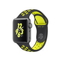 Ремешок oneLounge Nike Sport Band Black/Volt для Apple Watch 42mm/44mm Series 5/4/3/2/1 OEM