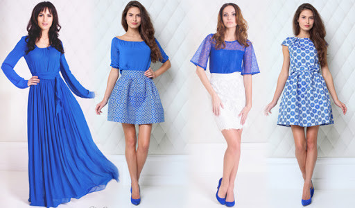 с чем сочетается синий цвет в одежде