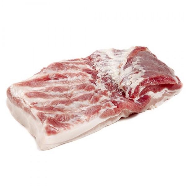 Грудинка свиная натуральная 1кг