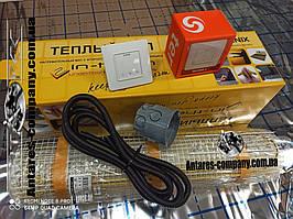 Чеський нагрівальний тонкий мат In-therm для теплої підлоги, 2,7 м.кв 550 вт серія Terneo S (Спец ціна)