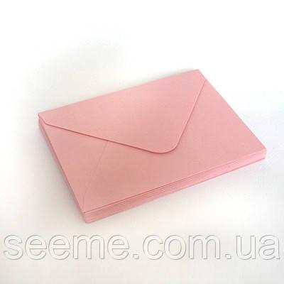 Конверт 205x140 мм, цвет розовый