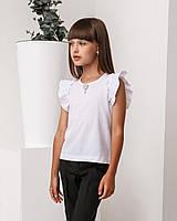 Школьная блузка, белая от бренда Polla Fashion