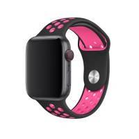 Ремешок oneLounge Nike Sport Band Black / Pink для Apple Watch 42mm/44mm Series 5/4/3/2/1 OEM