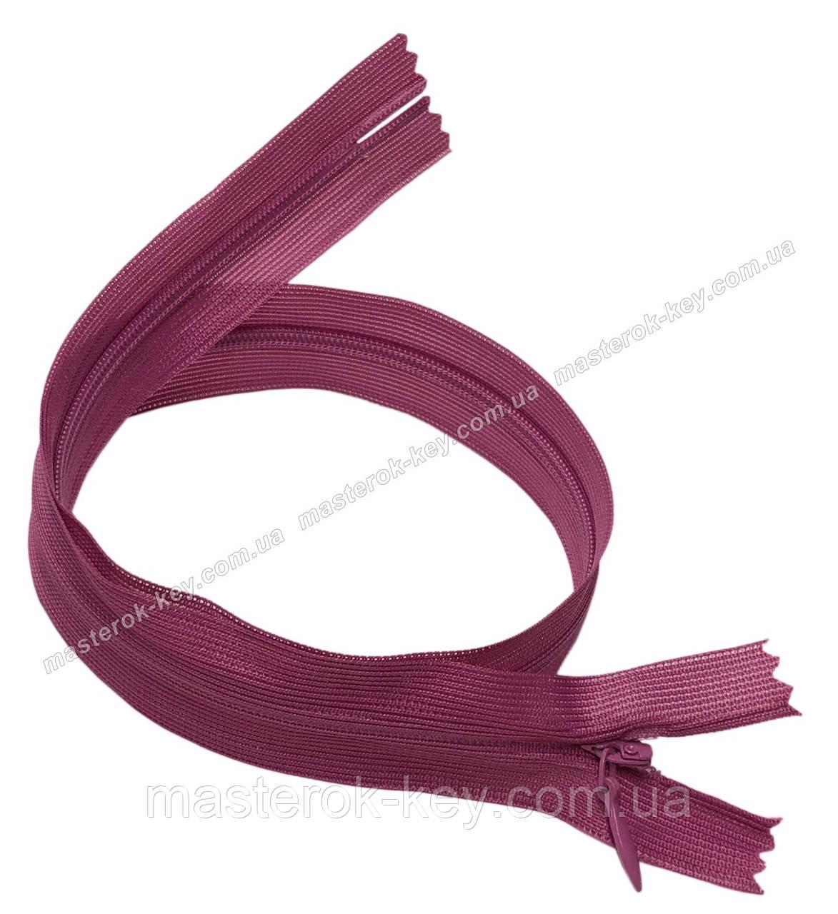 Блискавка потайна Тип 3 50см нераз'емна колір Брудно-рожевий 521