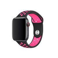 Ремешок oneLounge Nike Sport Band Black / Pink для Apple Watch 38mm/40mm Series 5/4/3/2/1 OEM