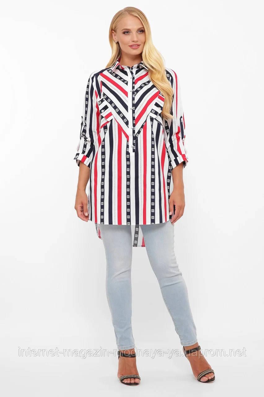 Модная рубашка женская Стиль р. 48-58