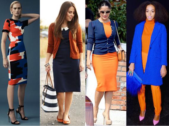 с чем сочетается темно синий цвет в одежде