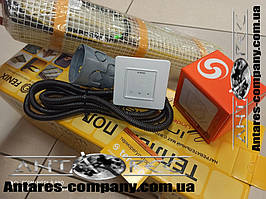 Тонкий нагрівальний кабель в маті під плитку Чехія 3,6 м.кв 720 вт серія Terneo S (Спец ціна)