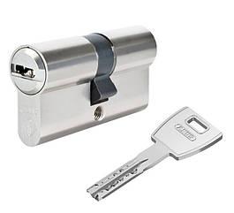 Цилиндр Abus M12R 60 мм (30х30) ключ/ключ 5 кл. Матовый хром