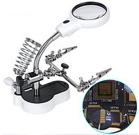 """Увеличительное стекло Magnifier 16126-АС2 65 мм 3,5x """"третья рука"""""""