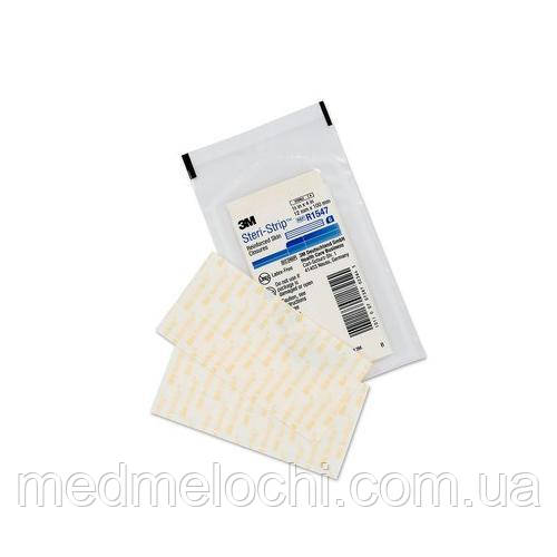 Стері-Стріп стрічки для безшовного закриття ран 12 мм х 100 мм (синій) (6/конверт) №50