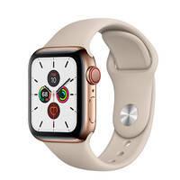 Смарт-часы Apple Watch Series 5 44mm Gold Stainless Steel Case Stone Sport Band (MWW52)