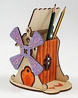 Деревянный конструктор Woody - Мельница, фото 1