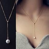 """Цепочка с жемчугом """"Elegant Pearl"""", 2 цвета, фото 7"""