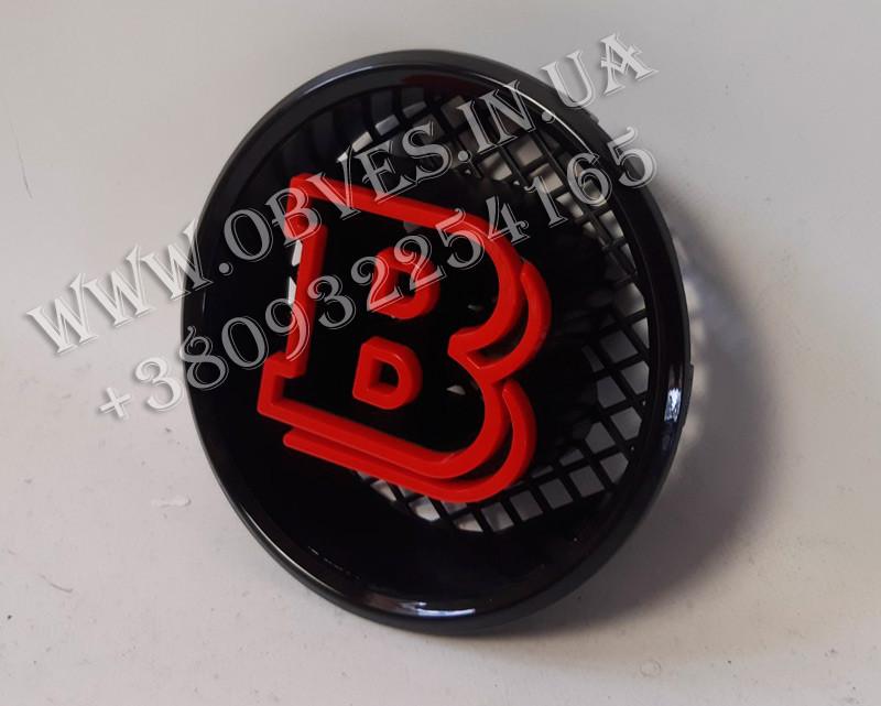 Эмблема Brabus в решетку радиатора Mercedes G-class (красная)