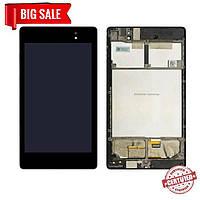Модуль (сенсор+дисплей) для Asus Nexus 7 (2013) ME572C з рамкою, чорний
