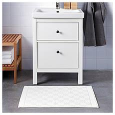 ФЭЛАРЕН Коврик для ванной, белый, 50x80 см, 40335906, ИКЕА IKEA, FÄLAREN, фото 3