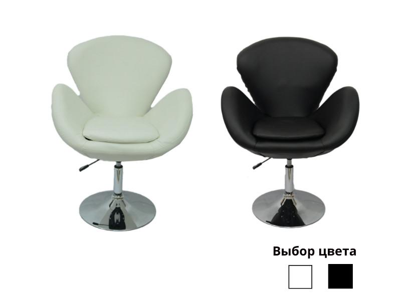 Барний стілець хокер Bonro B-540 білий чорний екокожа для клубу кафе будинку (360° з підлокітниками