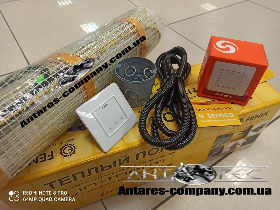 Надежный нагревательный мат под плитку, 7,9 м2 с сенсорным регулятором Terneo S