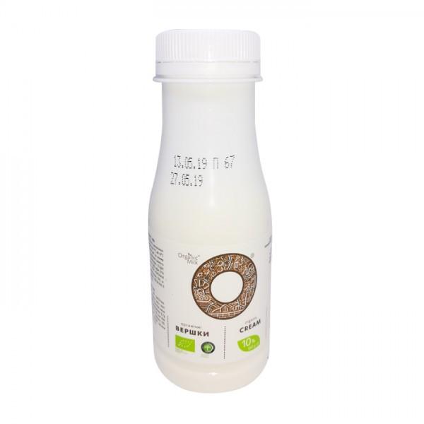 Сливки органические пастеризованные 10% Organik Milk 180г