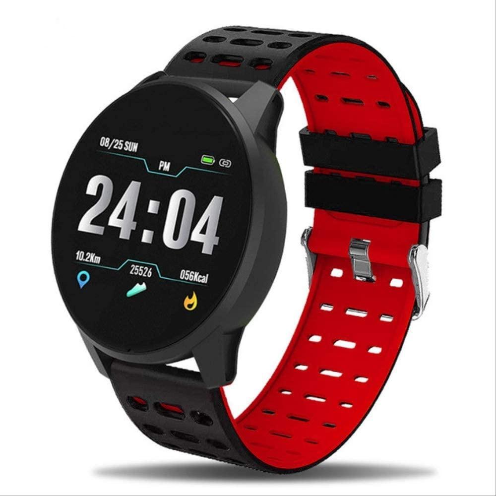 Фитнес часы 119 Plus трекер Браслет черно-красный