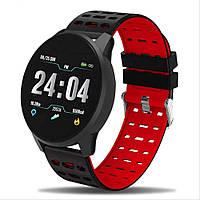 Фитнес часы 119 Plus трекер Браслет черно-красный, фото 1