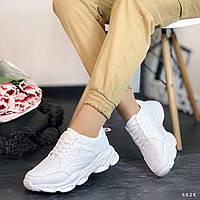 Женские белые спортивные кроссовки, фото 1