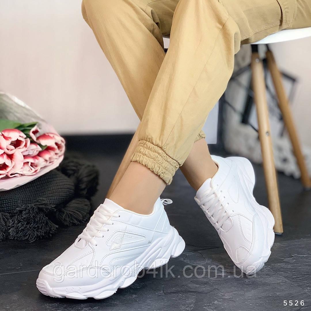 Женские белые спортивные кроссовки