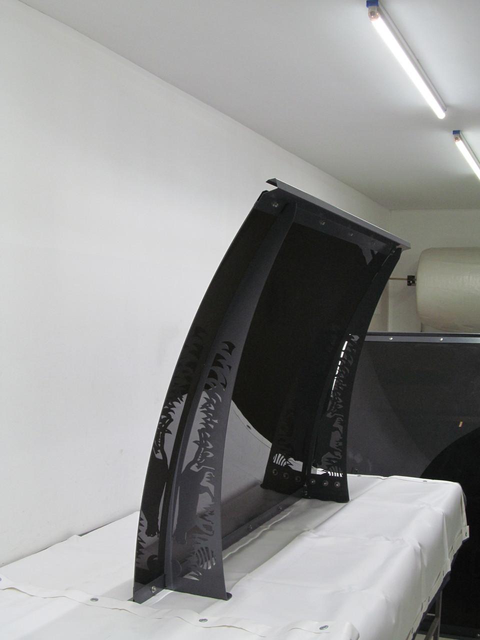 Металевий збірний дашок Dash'Ok Фауна 1,5м*1м з монолітним полікарбонатом 4мм