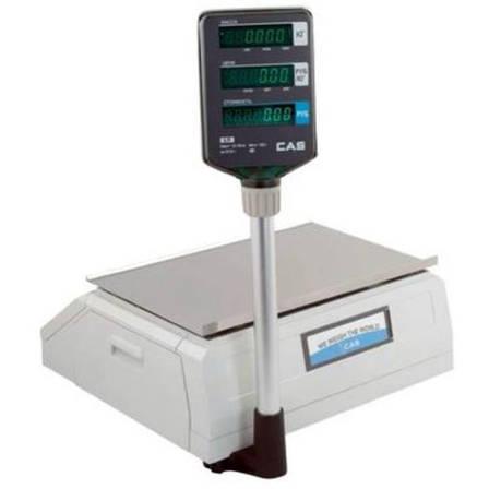 Весы с печатью этикеток CAS LP-R (в. 1.6) Ethernet со стойкой (15 кг), фото 2