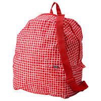 КНЭЛЛА Рюкзак, красный/белый 40330485 IKEA, ИКЕА, KNALLA