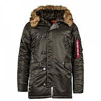 Зимова куртка аляска Alpha Industries Slim Fit N-3B Parka MJN31210C1 (Replica Grey), фото 1