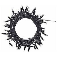 ЛЕДЛЬЮС Светодиодная гирлянда, 64 диода, для сада, черный, 80357430, ИКЕА IKEA, LEDLJUS
