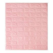 Панель стінова 3D Wall Sticker самоклеюча 70х77 см цегла РОЖЕВИЙ
