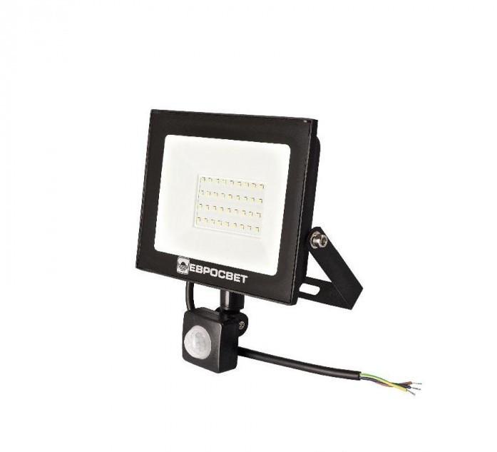 Прожектор светодиодный Евросвет EV-50-504D 50Вт с датчиком движения 6400К 4500Лм (000040908)