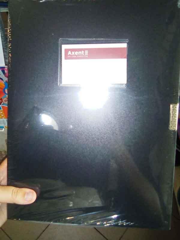 Папка-бокс А4 1760-01-А черная 60мм Axent