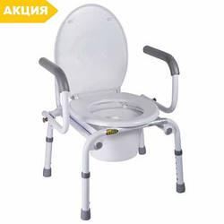 Кресло-туалет с откидными подлокотниками A8900AD, NOVA , стул туалетный, горшок для взрослых, больных