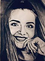 Черно-белый портрет по фото крандашом, фото 1