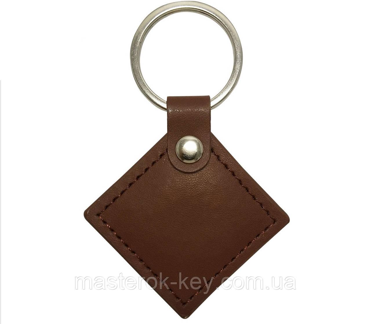 Заготовка ключа для домофона RFID 5577 КОЖА РОМБ КОРИЧНЕВЫЙ