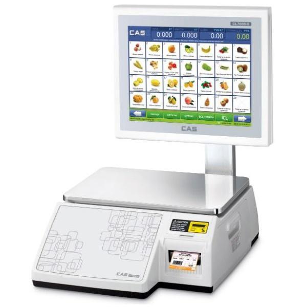 Весы с печатью этикеток CAS CL-7200S-2 (30 кг)