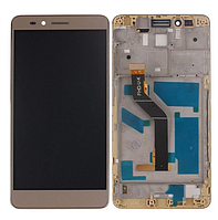 Дисплей Huawei Honor 5X (KIW-L21)/GR5 (2016)/Honor X5 + сенсор золотистый, с передней панелью( модуль, стекло)