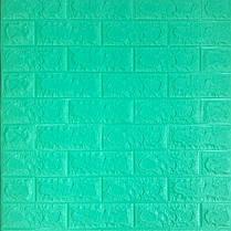 Панель стінова 3D Wall Sticker самоклеюча 70х77 см цегла М'ЯТА
