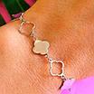 Брендовый серебряный браслет Клевер, фото 3