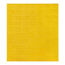 Панель стінова 3D Wall Sticker самоклеюча 70х77 см цегла ЖОВТИЙ