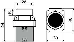 """XB2-BA51 Кнопка """"Старт"""" желтая (A0140010029), фото 2"""