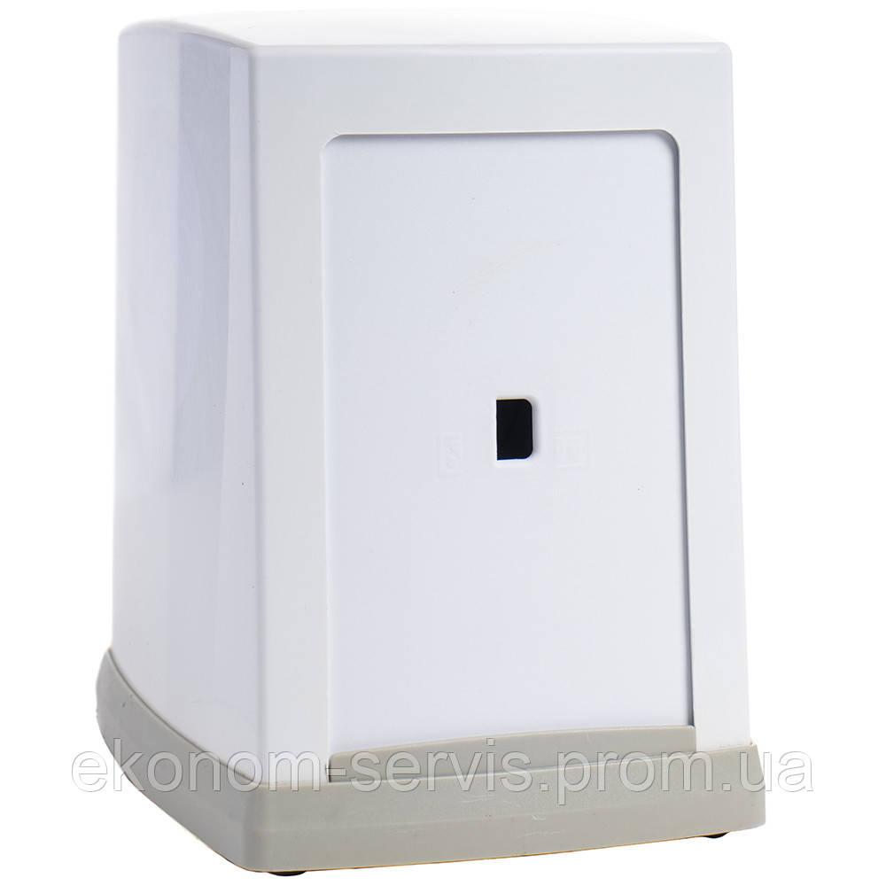 Диспенсер настільний пластиковий під серветку L складка Napkin NP100, білий, без коробки